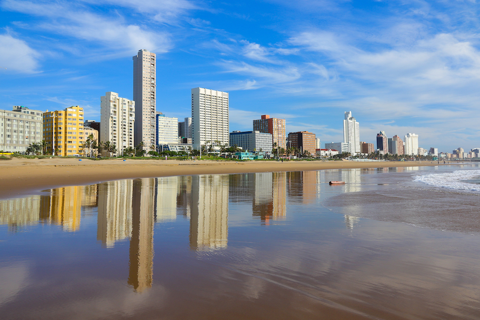 "Reflection of Durban's ""Golden Mile"""